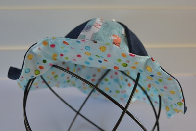Fluted 2 tone Baby Sunhat