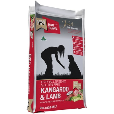 MEALS FOR MUTTS MFM Hypoallergenic Gluten Free Kangaroo & Lamb Dog Food - 3 Sizes