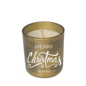 Symbolic Studio Christmas Brush Gold - Hand Poured Soy Candle