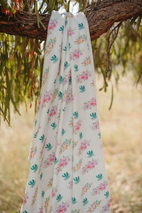 Cactus Flower Jersey Swaddle