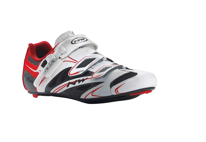 Northwave Sonic SRS White/Red, Road Bike
