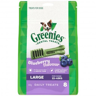 Greenies Blueberry Large Dental Chews Dog Treats 340G