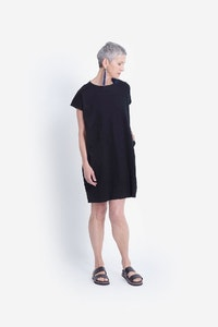 ELK NETTO JERSEY DRESS - BLACK