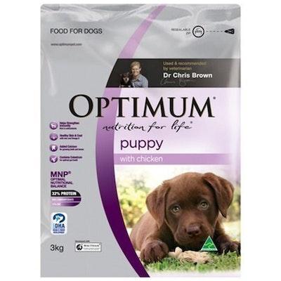 Optimum Puppy 2+ Months Food With Chicken Pouch - 3 Sizes