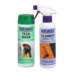 Nikwax Twin Pack: Tech Wash + TX Direct Spray-On