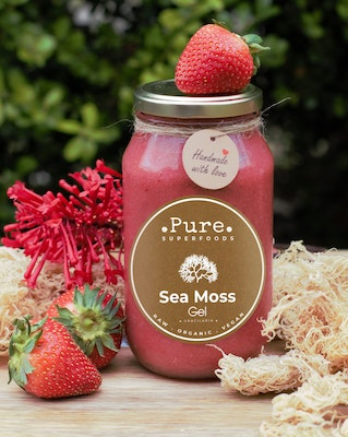 Pure Superfoods Strawberry Sea Moss Gel
