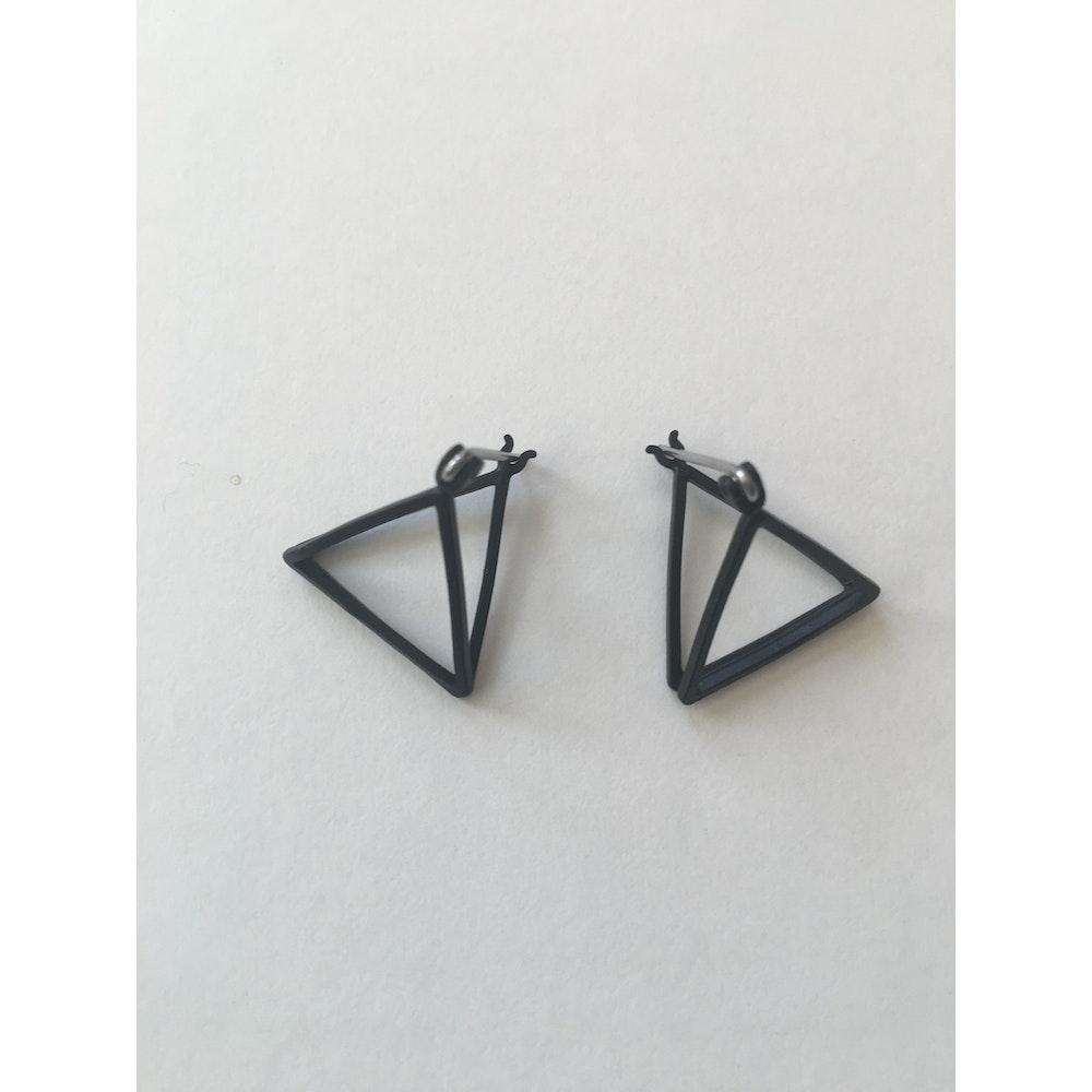 One of a Kind Club Black Pyramid Earrings