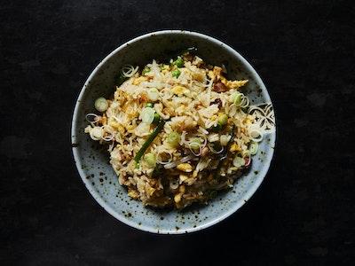 House fried rice Jasmine rice, peas, bacon