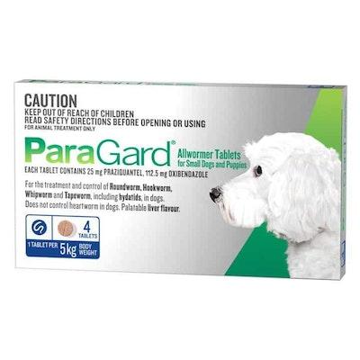Paragard Allwormer & Puppies Small Dog