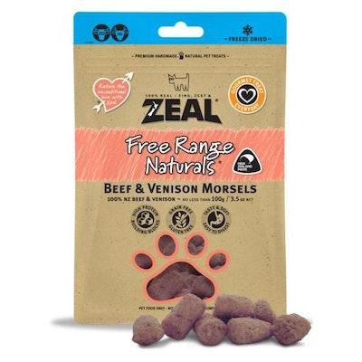ZEAL FRN Zeal Beef & Venison Morsels Dog Treats 100G