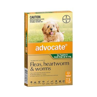 Advocate Dog 0-4KG 3 Tubes
