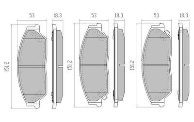 RDA GP MAX FRONT DISC BRAKE PADS for TOYOTA AURION GSV40R 2006 ONWARDS -RDB2046