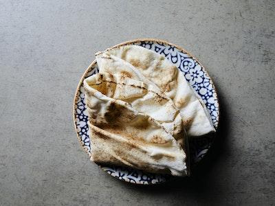 Fresh flat bread