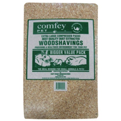 Comfey Pet Compressed Wood Shavings Small Animal Kennel Bedding - 2 Sizes