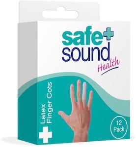 Safe + Sound Latex Finger Cots 12 Packs