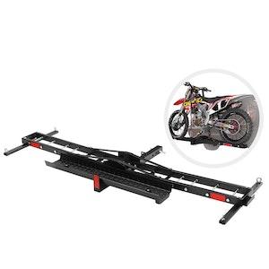 """Motorcycle Carrier Motorbike Rack 2 Arms Dirt Bike Ramp 2"""" Towbar Steel"""