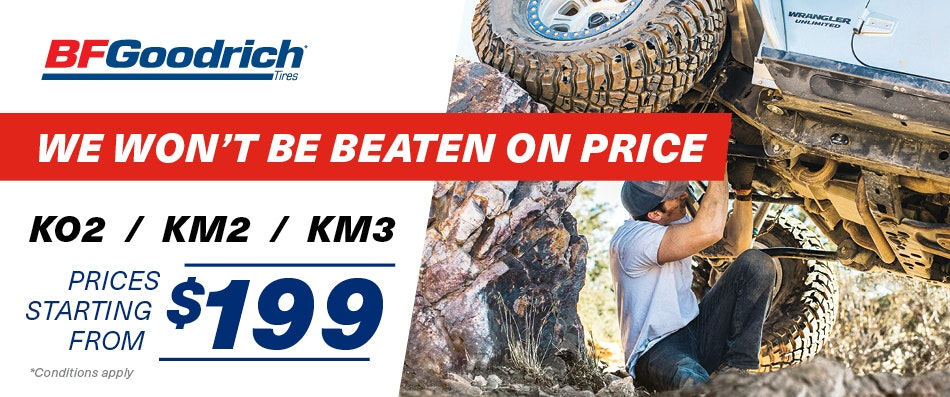 BFGoodrich |Best Tyre Price Guarantee | Bob Jane T-Marts