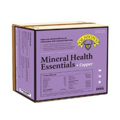 Olssons Mineral Health Essentials Plus Copper Livestock Supplement 20kg