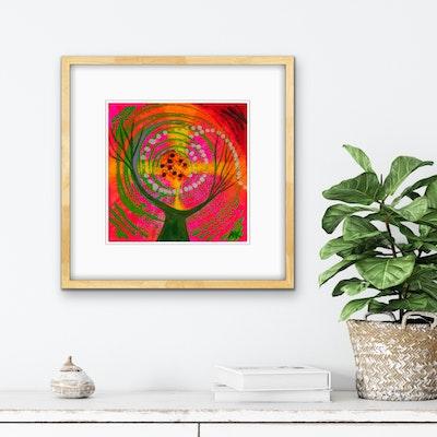 Diilhami Art The Dreaming Tree Art Print 300 x 300mm
