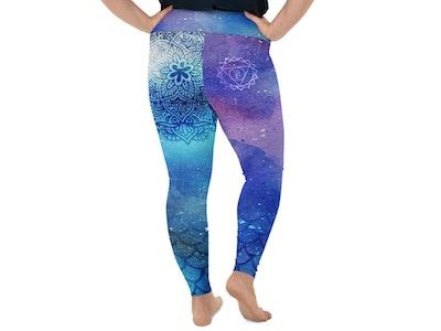 Yoga Pants Store Cosmic Mermaid Throat Chakra Curvy Leggings
