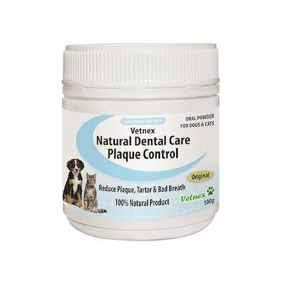 VETNEX Natural Dental Care Plaque Control Powder For Dogs & Cats - Original 100G