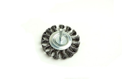 """3"""" Twist Knot Wire Wheel for Drill"""