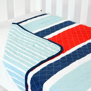 Babyhood Cot Quilt Coverlet Breezy Blue