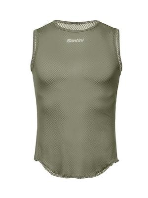 Santini Baselayer Sleeveless Lieve Army Green