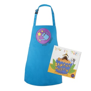 Gift Pack: Banana Muffins Personalised Recipe Storybook PLUS kids apron