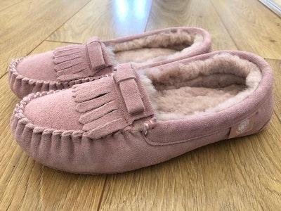 Ladies Moccasin-Australian Sheepskin Pink
