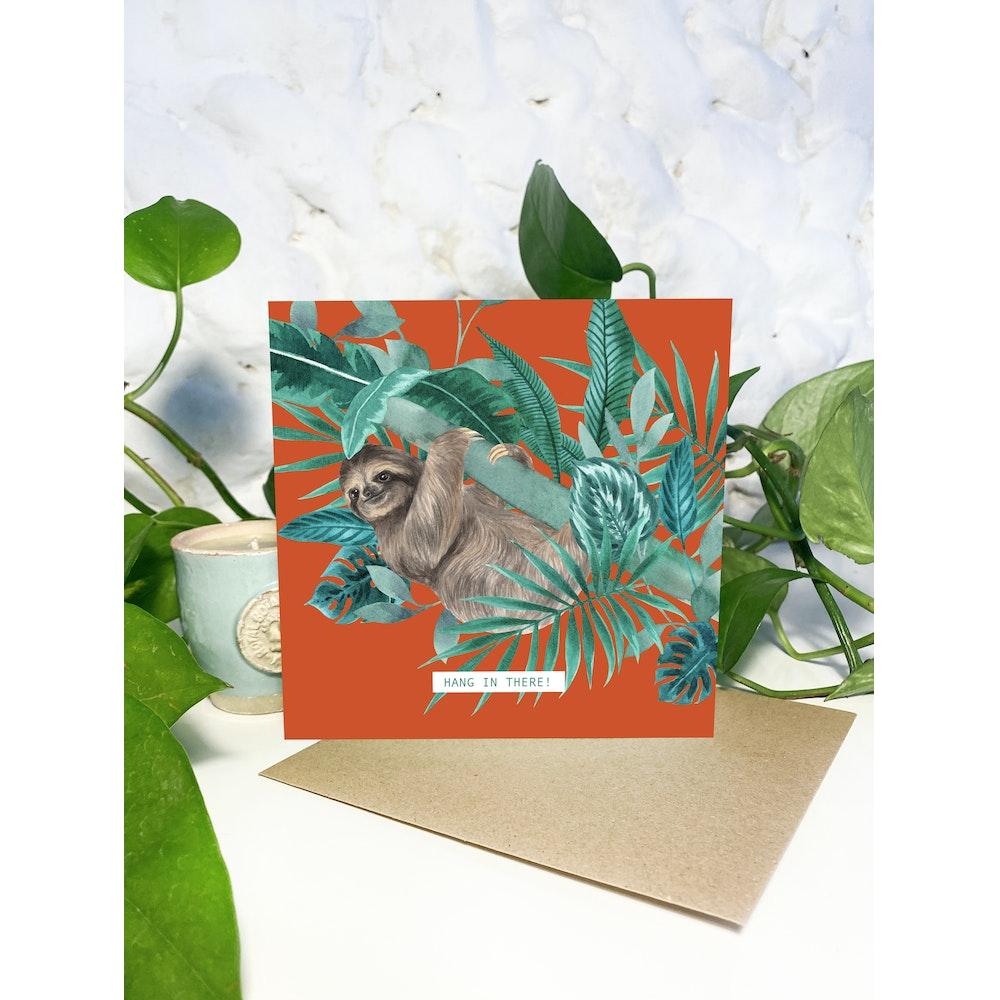 Laura Elizabeth Illustrations Sloth Greetings Card