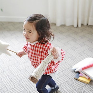 Red Checkered Lace Blouse (6mths-5yrs old)