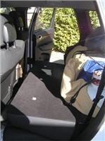 Rola safety  net holds load tight in Jeep 1554L cargo space.