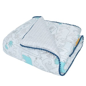 Quilted Cot Comforter - Urban Safari
