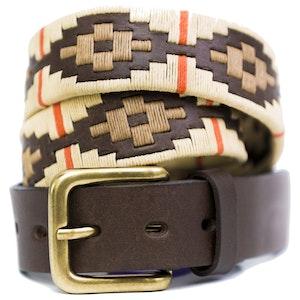 Pioneros Belt Cream, Beige, Orange Stripe