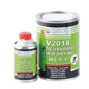 "Master V2018 Rapid Drying HS Primer 1Lt - Black"""