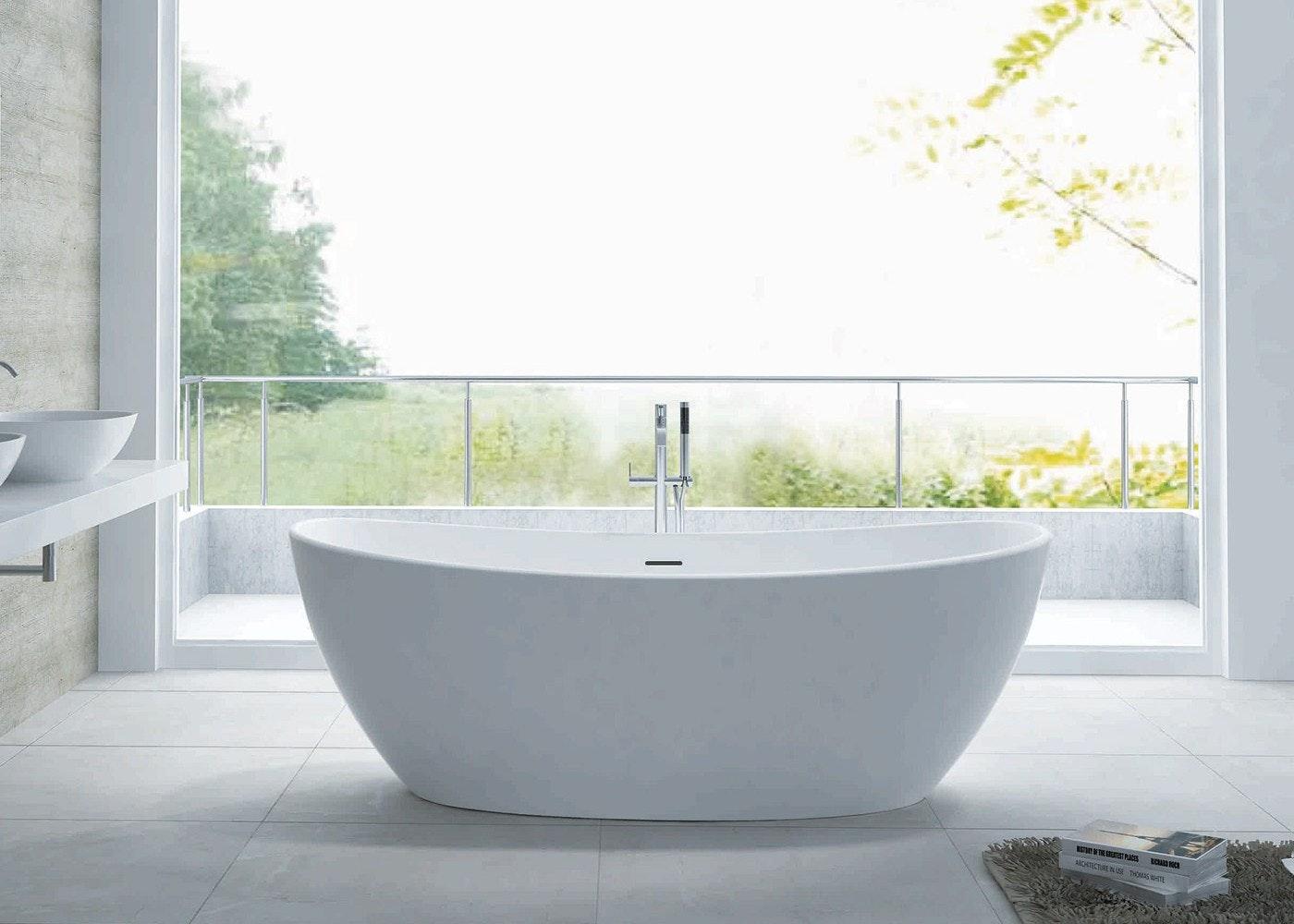 Pietra Bianca Maria Freestanding Bathtub | Freestanding Baths for ...