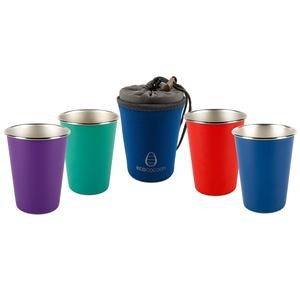 Ecococoon Stainless Steel Cup Set - Tropical Sunset