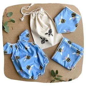 Romper Baby Bundle - Blue Bee