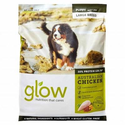 GLOW Large Breed Puppy Australian Chicken Dry Dog Food 10kg