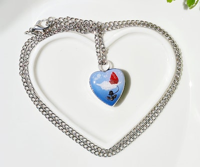 Bee's Knees Keepsake JUST HOLD ON heart ash urn memorial necklace, cremation jewelry  sympathy bereavement gift 2021