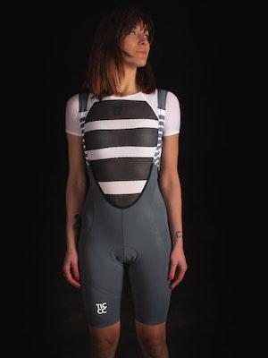 TIC CC Ride bib shorts Womens Pebble grey
