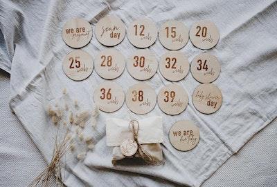 Milestone Pregnancy Wooden Disc Set