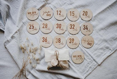 Milestone Pregnancy Wooden Disc Set