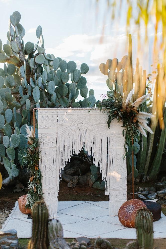 LENZO Boho Cactus Wedding Kas Richards