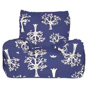 Play Pouch Navy Orchard Bean Chair