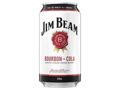 Jim Beam White & Cola Can 375mL