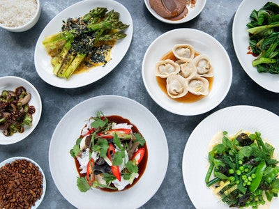 Spring Vegetarian Banquet. Serves 2, $75 per person.