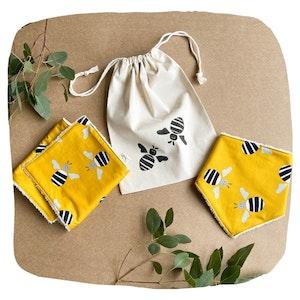 Bee Bib and Burp Cloth Bundle - Mustard