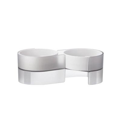 Pidan Dual Bowl For Cats – Grey